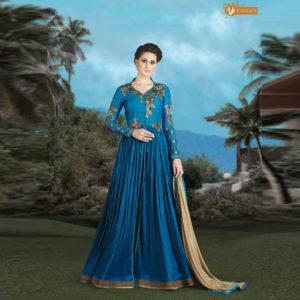 96cf87d401 Ganga Collection - Green Shalwar Suit - Nashiz Online