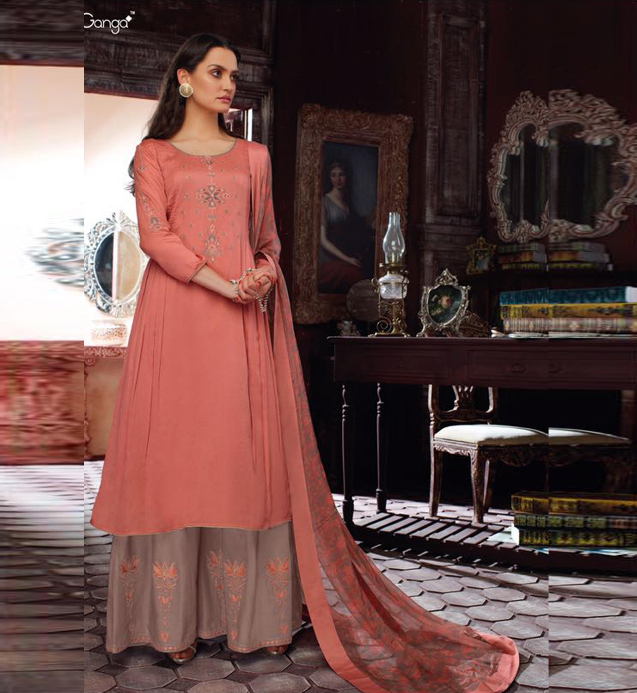 02e271b5fd Ganga - Pink Shalwar Kameez - Nashiz Online