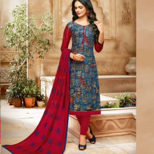 d194b65b91 Ray Rayon Collection – Blue and Red. Shalwar Material Suits ...